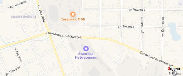 Социалистическая улица на карте Янаула с номерами домов