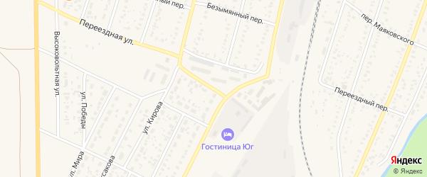 Переездная улица на карте села Раевского с номерами домов