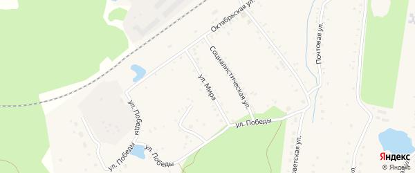 Улица Мира на карте села Благовара с номерами домов