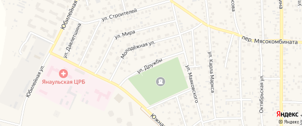 Улица Дружбы на карте Янаула с номерами домов