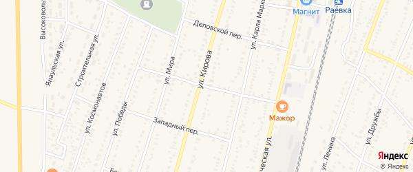 Мастеровой переулок на карте села Раевского с номерами домов