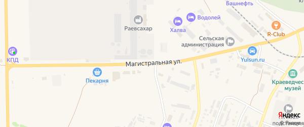 Магистральная улица на карте села Раевского с номерами домов