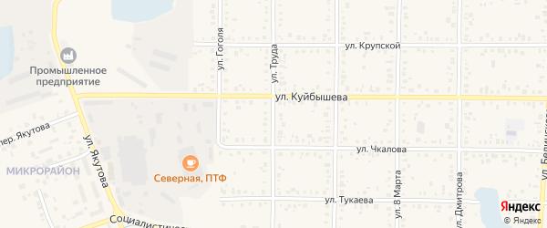 Улица Труда на карте Янаула с номерами домов