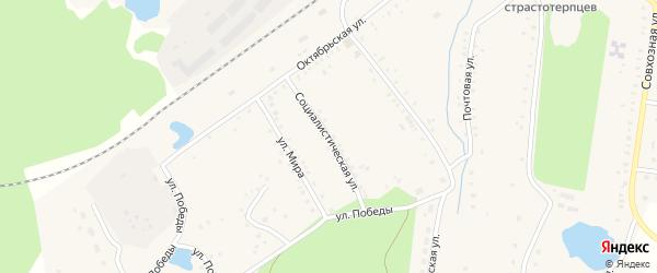 Социалистическая улица на карте села Благовара с номерами домов