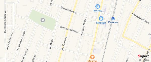 Деповской переулок на карте села Раевского с номерами домов