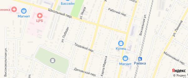 Улица Кирова на карте села Раевского с номерами домов