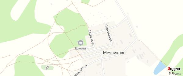 Садовая улица на карте села Мечниково с номерами домов