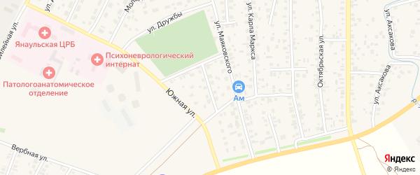 Нефтекамская улица на карте Янаула с номерами домов