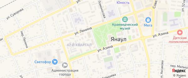 Крестьянская улица на карте Янаула с номерами домов