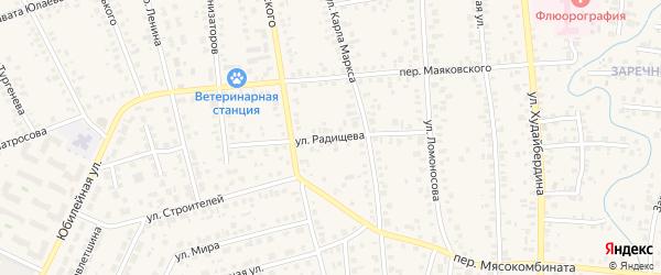 Улица Радищева на карте Янаула с номерами домов