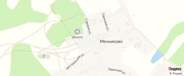 Школьная улица на карте села Мечниково с номерами домов