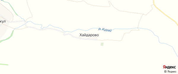 Карта деревни Хайдарово в Башкортостане с улицами и номерами домов