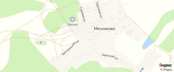Центральная улица на карте села Мечниково с номерами домов
