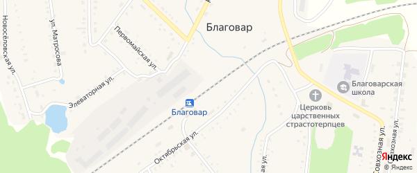 Улица Победы на карте села Благовара с номерами домов