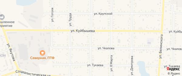 Улица Калинина на карте Янаула с номерами домов