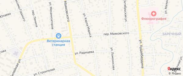 Улица К.Маркса на карте Янаула с номерами домов