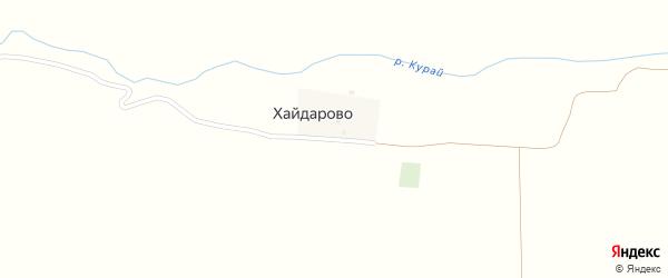 Хайдаровская улица на карте деревни Хайдарово с номерами домов