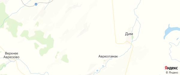 Карта Ибраевского сельсовета республики Башкортостан с районами, улицами и номерами домов