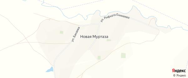 Карта села Новой Муртазы в Башкортостане с улицами и номерами домов