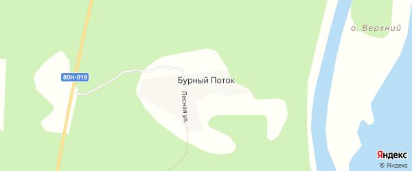 Карта поселка Бурного Потока в Башкортостане с улицами и номерами домов