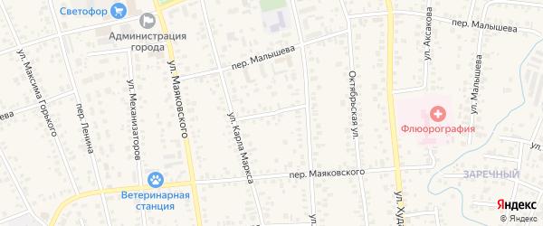 Переулок Стадиона на карте Янаула с номерами домов