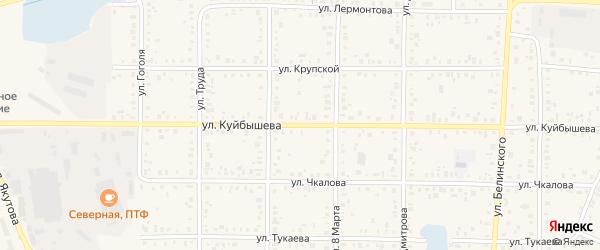 Улица Куйбышева на карте Янаула с номерами домов