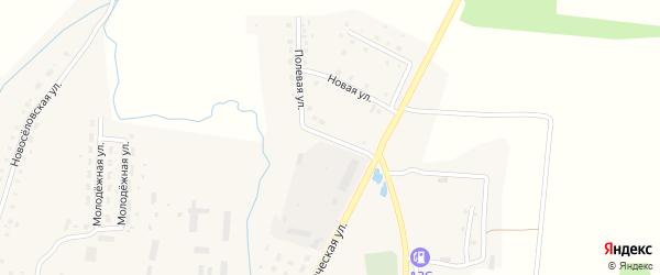 Полевая улица на карте села Благовара с номерами домов