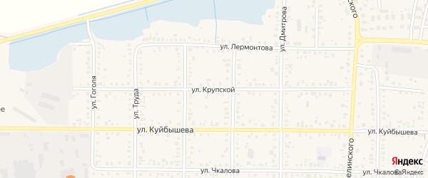Улица Крупской на карте Янаула с номерами домов