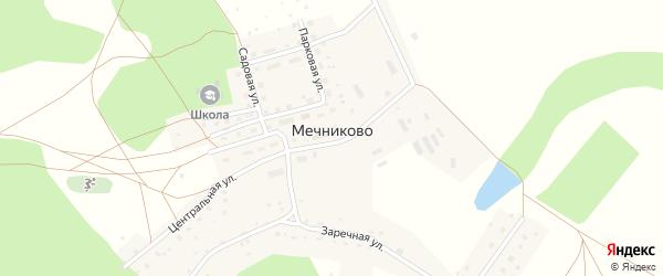 Заречная улица на карте села Мечниково с номерами домов