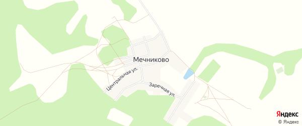Карта села Мечниково в Башкортостане с улицами и номерами домов