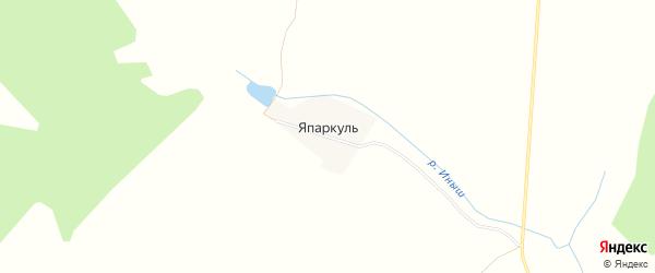 Карта деревни Япаркуля в Башкортостане с улицами и номерами домов