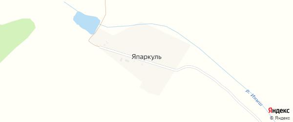 Япаркульская улица на карте деревни Япаркуля с номерами домов