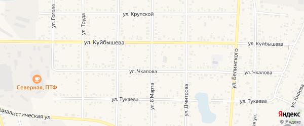 Улица 8 Марта на карте Янаула с номерами домов