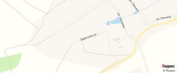 Заречная улица на карте деревни Калмиябаша с номерами домов