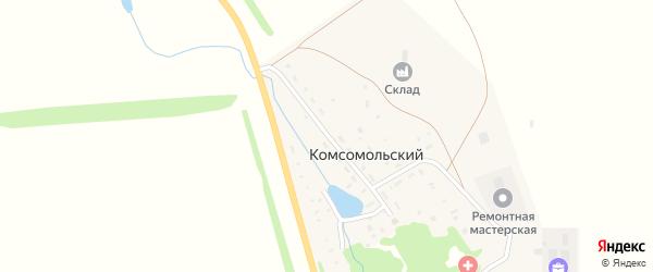 Центральная улица на карте села Комсомольского с номерами домов