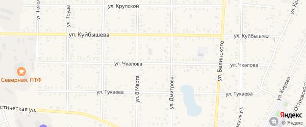 Улица Чкалова на карте Янаула с номерами домов