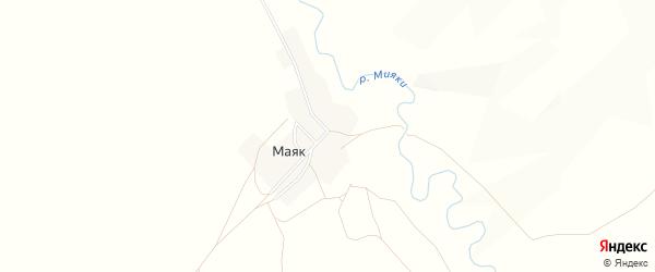 Карта деревни Маяка в Башкортостане с улицами и номерами домов