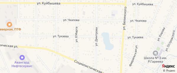 Улица Тукаева на карте Янаула с номерами домов
