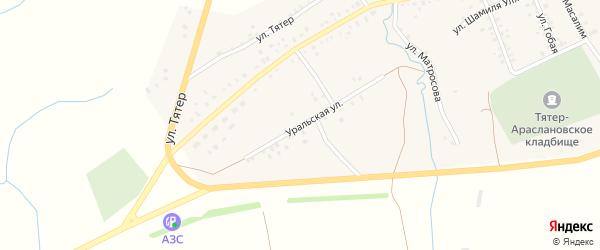 Уральская улица на карте села Тятер-Арасланово с номерами домов