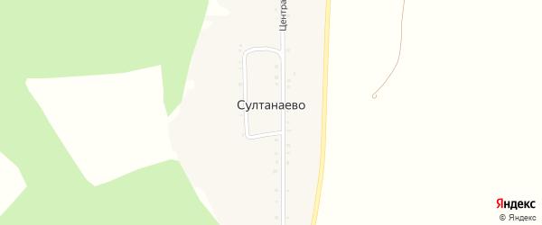 Центральная улица на карте деревни Султанаево с номерами домов
