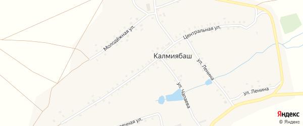 Центральная улица на карте деревни Калмиябаша с номерами домов