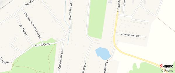 Парковая улица на карте села Благовара с номерами домов