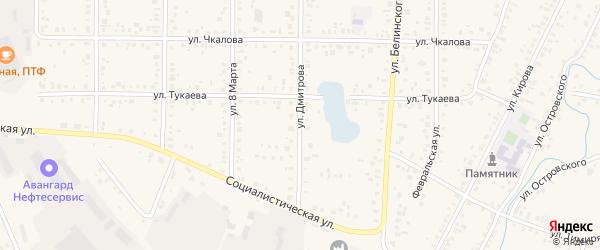Улица Димитрова на карте Янаула с номерами домов
