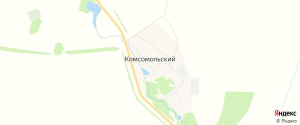 Карта села Комсомольского в Башкортостане с улицами и номерами домов