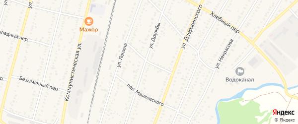 Переулок Демьяна Бедного на карте села Раевского с номерами домов