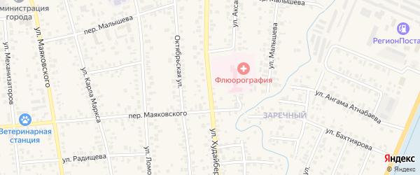 Улица Худайбердина на карте Янаула с номерами домов