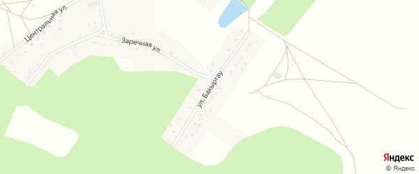 Улица Бакыртау на карте села Мечниково с номерами домов