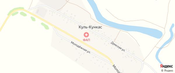 Молодежная улица на карте села Куля-Кункаса с номерами домов