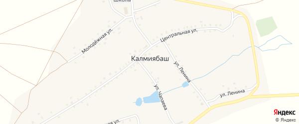 Колхозная улица на карте деревни Калмиябаша с номерами домов