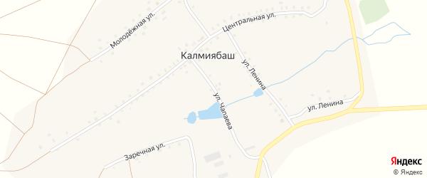 Улица Чапаева на карте деревни Калмиябаша с номерами домов